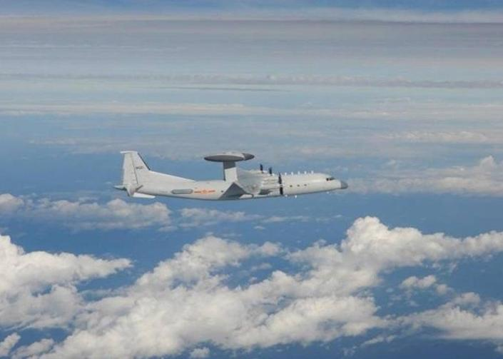 Chinese PLA airborne Shaanxi KJ-500 (AEW & C), following the incursion of nineteen Chinese PLA warplanes on 2 October into Taiwan's airspace  (EPA)