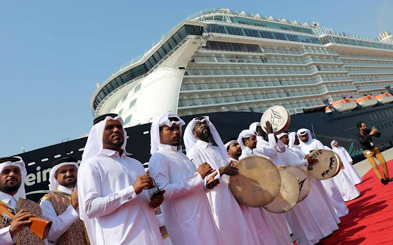 A cruise ship in Doha, where the MSC vessels will be docked - Getty
