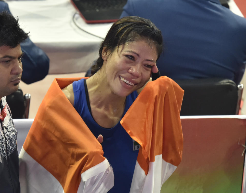 This legendary boxer has several firsts to her credit. She is the only woman to be World Amateur Boxing champion a record six times, the only woman boxer to have won a medal in each one of the seven world championships she participated in and the first Indian woman boxer to bag a Gold Medal in the Asian Games. She was awarded the Padma Shri in 2006 and the Padma Bhushan in 2013. She is currently also a member of the Rajya Sabha.
