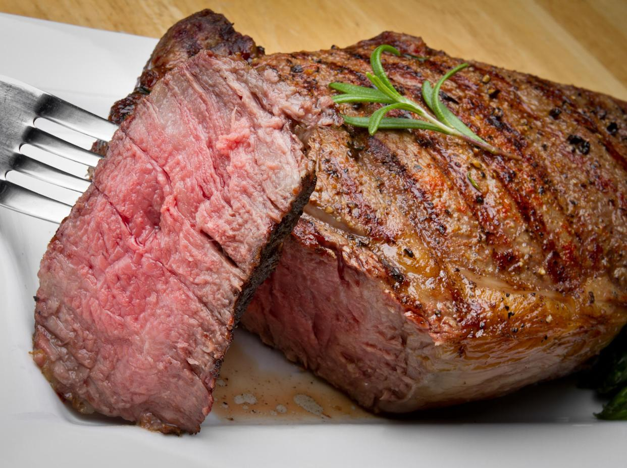 A medium-rare steak should be cooked to an internal temperature of 145 degrees.  (Getty Images)