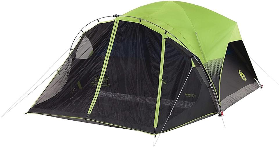 "<p>The smart screen room on this <a href=""https://www.popsugar.com/buy/Coleman-Dome-Camping-Tent-584334?p_name=Coleman%20Dome%20Camping%20Tent&retailer=amazon.com&pid=584334&price=103&evar1=savvy%3Aus&evar9=47570402&evar98=https%3A%2F%2Fwww.popsugar.com%2Fsmart-living%2Fphoto-gallery%2F47570402%2Fimage%2F47570436%2FColeman-Dome-Camping-Tent-with-Screen-Room&list1=travel%2Camazon%2Ccamping&prop13=mobile&pdata=1"" class=""link rapid-noclick-resp"" rel=""nofollow noopener"" target=""_blank"" data-ylk=""slk:Coleman Dome Camping Tent"">Coleman Dome Camping Tent </a> ($103) makes it easy to keep bugs and dirt out of your sleeping space.</p>"