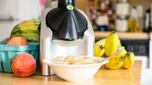 The Yonanas soft-serve maker delivers creamy frozen treat without dairy.
