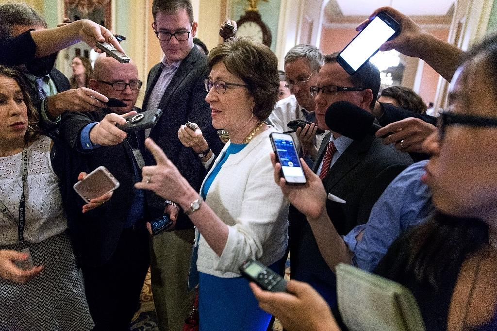 "Senator Susan Collins, a Republican of Maine, says she cannot 'envision a scenario"" in which she would vote for the latest Republican bid to overhaul Obamacare (AFP Photo/CHIP SOMODEVILLA)"
