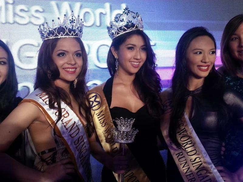 TOP THREE: (From left) First runner-up Elizabeth Houghton, winner Maria-Anna Zenieris and Rachel Leng (Yahoo! photo)