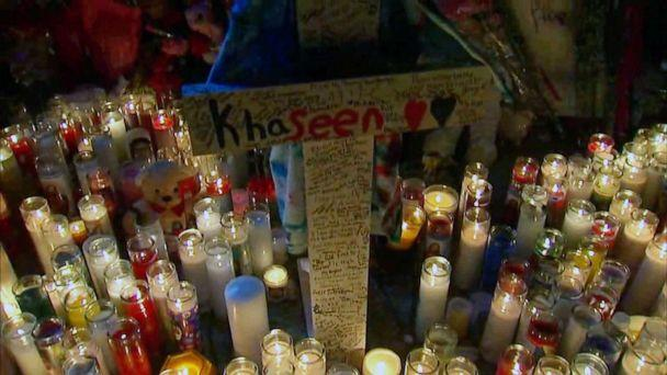 PHOTO: A memorial for Khaseen Morris was held on Sept. 18, 2019 in Oceanside, N.Y., two days after he was killed. (WABC)