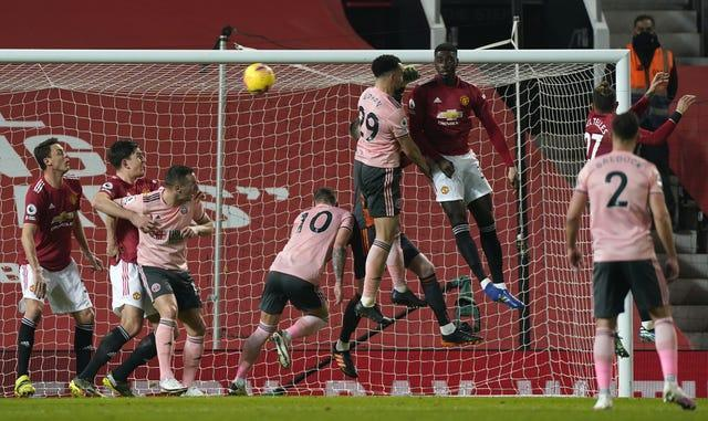 Kean Bryan headed Sheffield United into a shock lead at Old Trafford