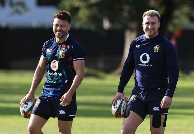 Ali Price (left) and Stuart Hogg (right) have been picked with a view to attack South Africa
