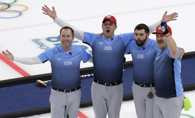The gold medal-winning men's curling team will make the Vikings' Day 3 NFL Draft pick, which is pretty much perfect. (AP)