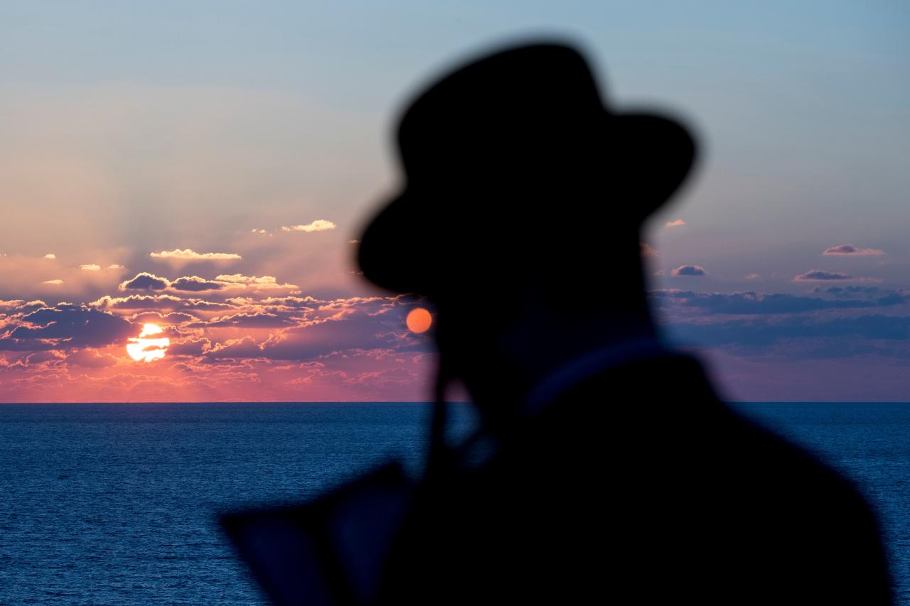 "<p>An Ultra-Orthodox Jewish man prays along the Mediterranean Sea in the Israeli city of Herzliya, near Tel Aviv, while performing the ""Tashlich"" ritual on Sept. 28, 2017, during which ""sins are cast into the water to the fish"". The ""Tashlich"" ritual is performed before the Day of Atonement, or Yom Kippur, the most important day in the Jewish calendar, which in 2017 starts at sunset on on Sept. 29. (Photo: Jack Guez/AFP/Getty Images) </p>"