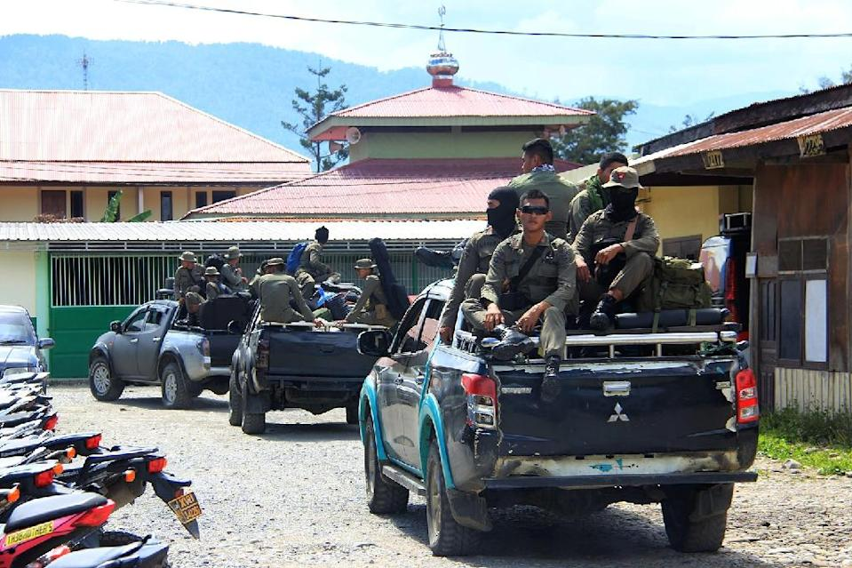 Police and military teams were sent to the area on Monday when they came under rebel gunfire with one soldier killed and another wounded in the firefight, authorities said (AFP Photo/ANYONG)