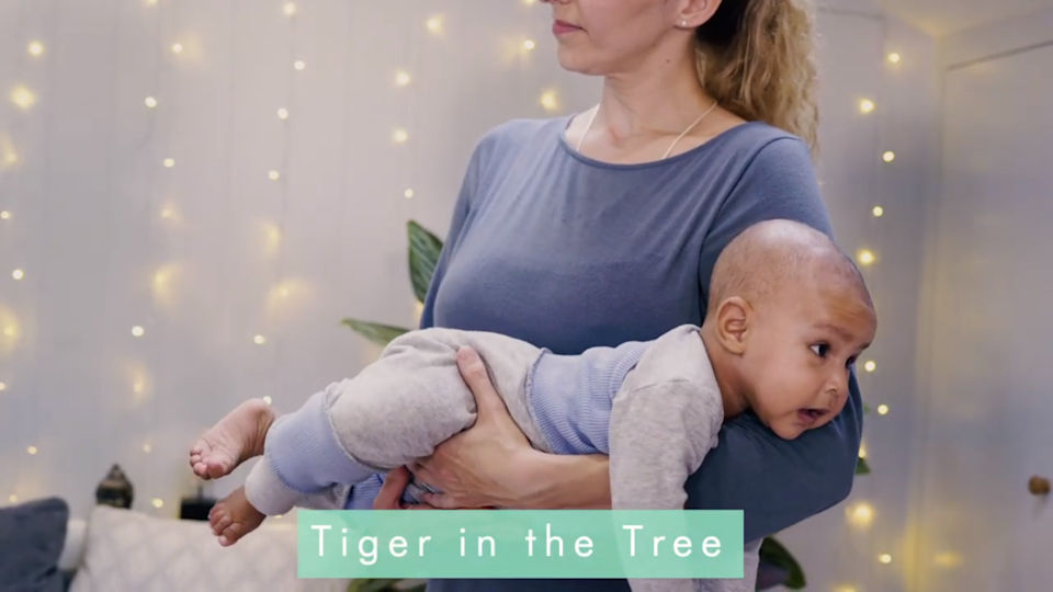 Baby yoga is great for relaxation, too. (Sensory Land)