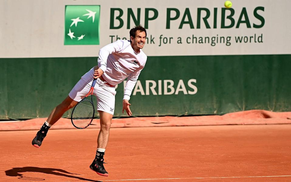 Andy Murray of Great Britain during a training session at Roland Garros - GETTY IMAGES