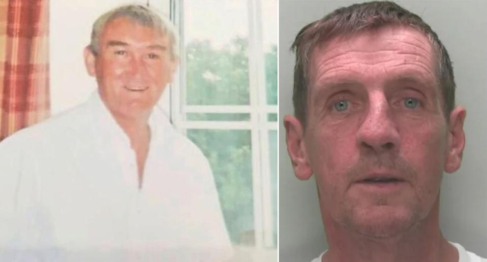 Brian McMahon (R) killed Melvin Murphy, 65, with a single blow (Picture: SWNS)