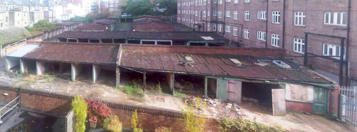 <p>Just a few years ago, the site, near Lord's cricket ground in St John's Wood, north-west London, was made up of derelict corrugated iron-covered garages. </p>