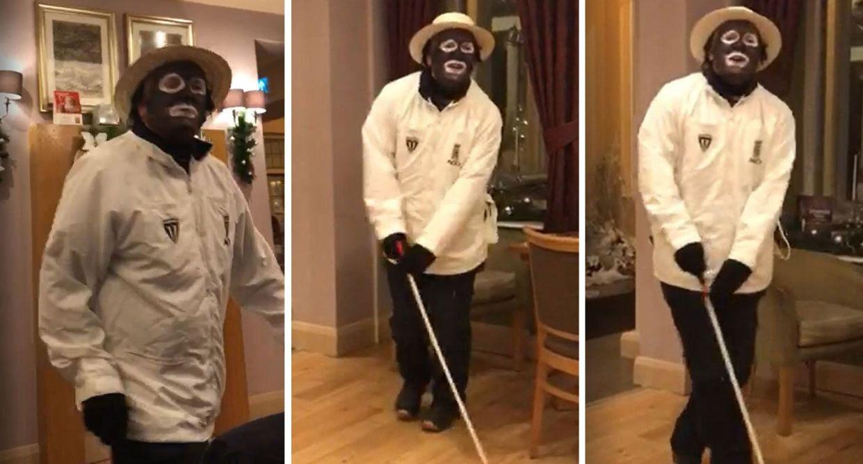 White Christmas Minstrel Show.Man Who Blacked Up For Work Christmas Party And Performed