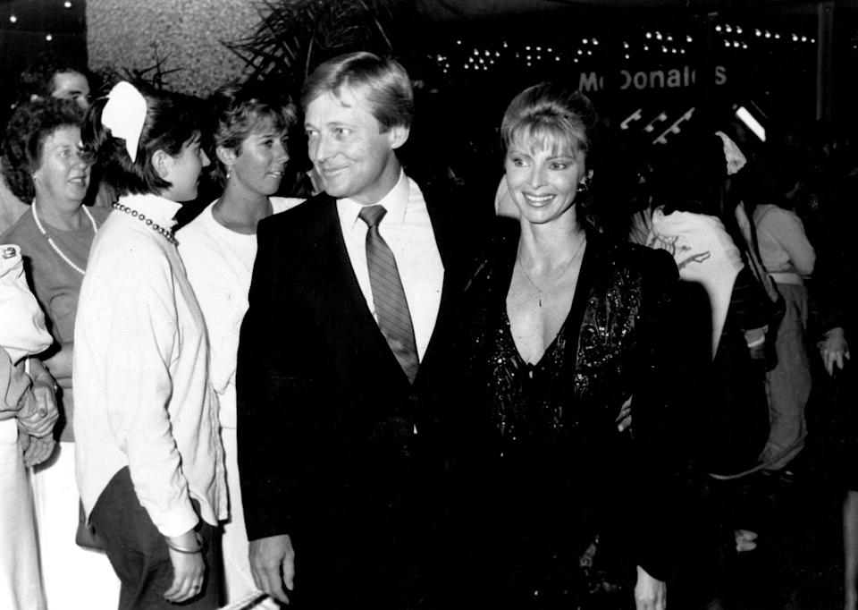 Cornell and his wife Delvene Delaney after a multi-million-dollar buying spree in Byron Bay, New South Wales, in 1986 - Peter John Moxham/Fairfax Media via Getty Images