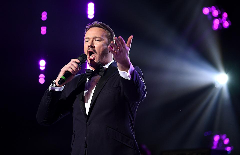 Russell Watson on stage at the Global Awards 2020 with Very.co.uk at London's Eventim Apollo Hammersmith. (Photo by Scott Garfitt/PA Images via Getty Images)
