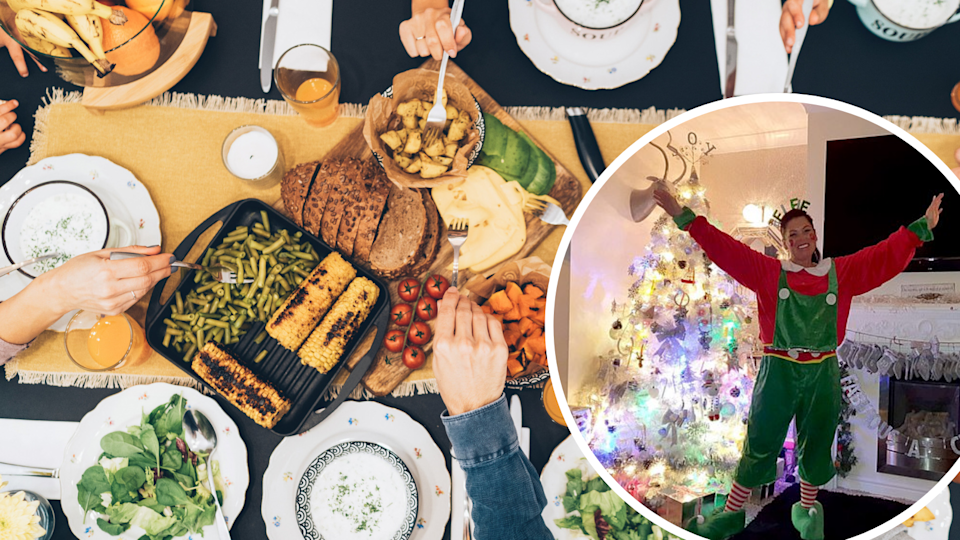 Christmas feast, and UK grandmother who charges per head to attend Christmas dinner