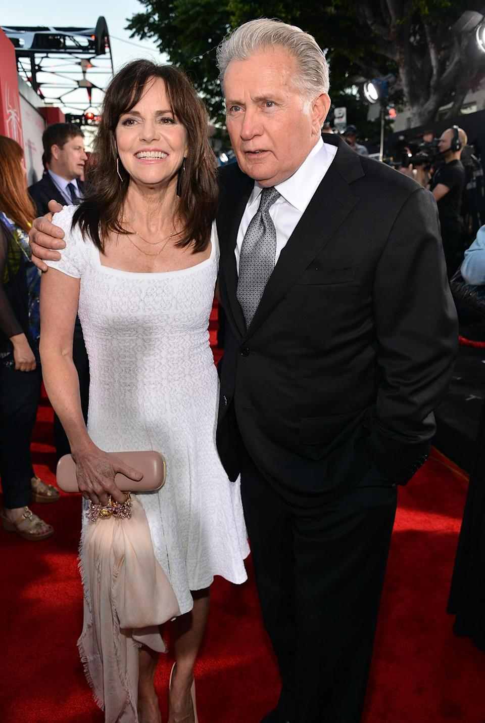 <p>The acting legends, playing Peter Parker's new aunt and uncle, posed together at the Los Angeles premiere. (Photo: Alberto E. Rodriguez/Getty Images) </p>