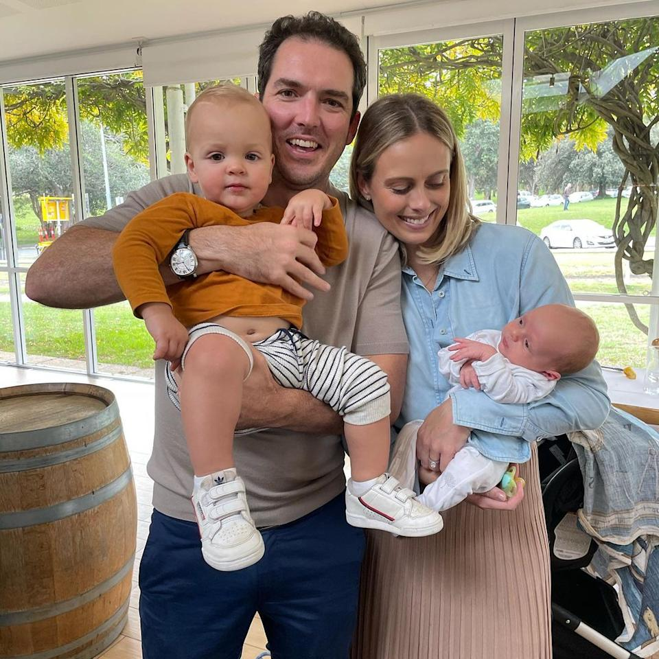 Sylvia Jeffreys with husband Peter Stefanovic and their two young sons