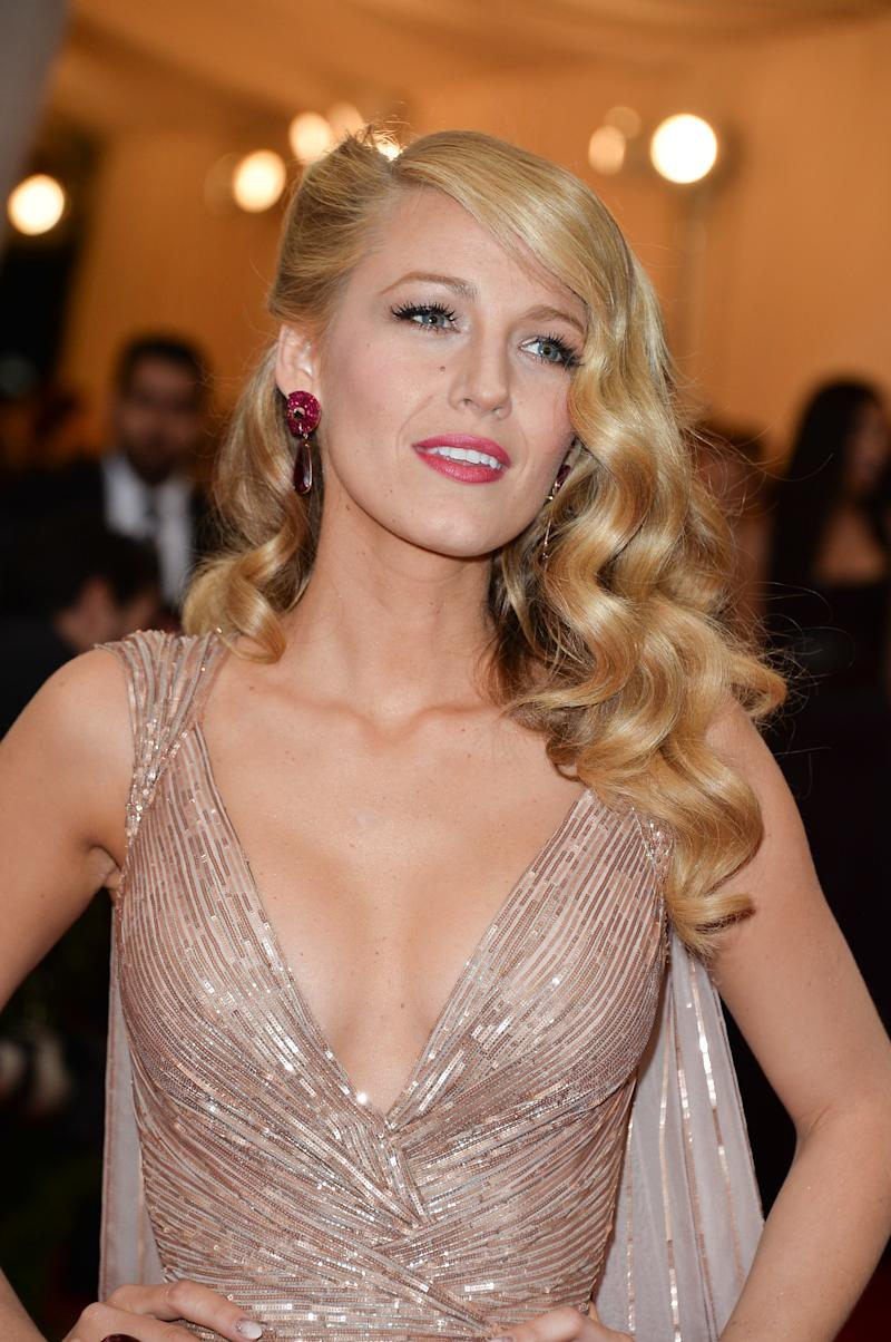 At the 2014 Costume Institute Gala, Lively paired her polished curls with a berry pink lip.