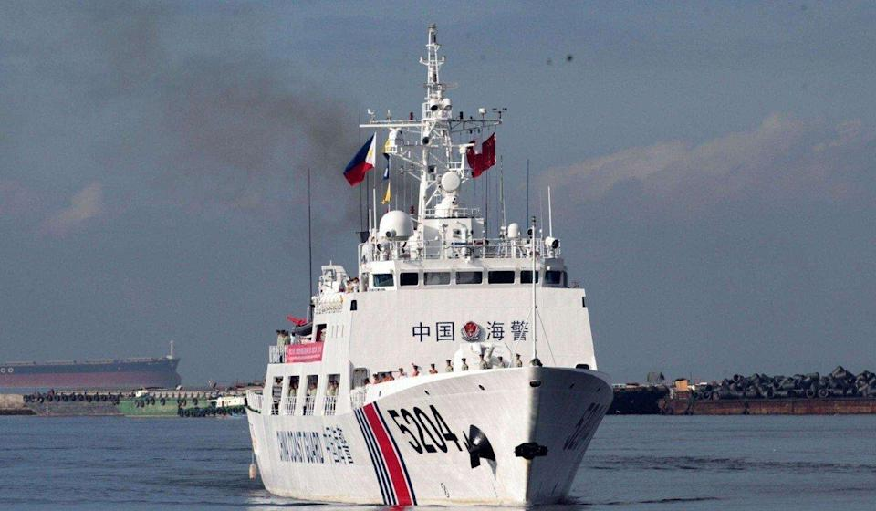 Hoang and the 11 other fugitives were picked up by the Chinese coastguard last August en route to Taiwan. Photo: Weibo
