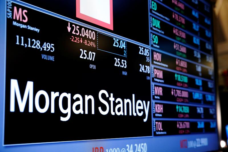 Morgan Stanley exceeds forecasts with 46% jump in fourth-quarter profits