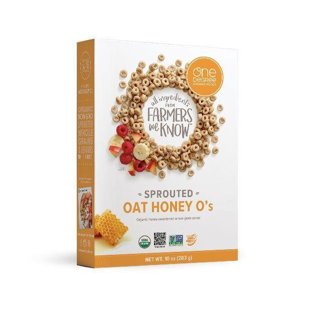 """<p>If you're looking for something you can easily pack in a snack cup for your kids, try sprouted cereal. These are made from organic oats and contain four grams of protein and three grams of fiber per serving, plus they're low in sugar, says <a href=""""https://www.whitneyerd.com/about"""" rel=""""nofollow noopener"""" target=""""_blank"""" data-ylk=""""slk:Whitney English"""" class=""""link rapid-noclick-resp"""">Whitney English</a>, RD.</p><p><a class=""""link rapid-noclick-resp"""" href=""""https://www.amazon.com/DEGREE-ORGANIC-FOODS-SPRTD-HONEY/dp/B0733NN7JP?tag=syn-yahoo-20&ascsubtag=%5Bartid%7C10072.g.27072697%5Bsrc%7Cyahoo-us"""" rel=""""nofollow noopener"""" target=""""_blank"""" data-ylk=""""slk:SHOP NOW"""">SHOP NOW</a></p>"""