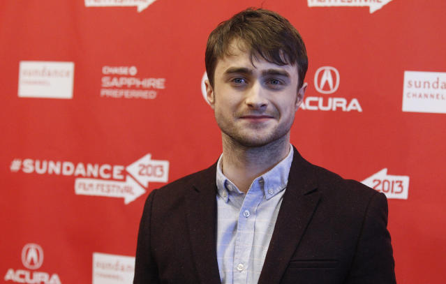 """Cast member Daniel Radcliffe poses at the premiere of """"Kill Your Darlings"""" during the Sundance Film Festival in Park City, Utah January 18, 2013. REUTERS/Mario Anzuoni (UNITED STATES - Tags: ENTERTAINMENT)"""