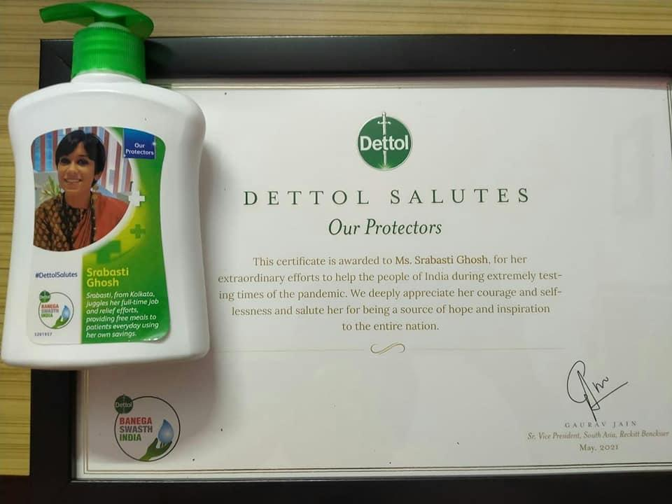 Dettol salutes Srabasti Ghosh for her efforts to aid people during these tough times