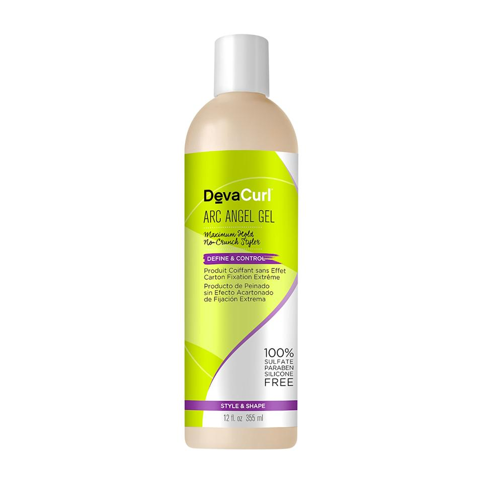 """<p>This DevaCurl hair gel does exactly what its name implies: maintains your style all day, minus the crunchy effect that you can get with many gels. Enriched with strand-loving ingredients like chamomile, lemongrass, and orange peel extract, it keeps waves and curls soft, shiny, and smooth for hours on end.</p> <p><del>$24</del> <strong>$12</strong> (<a href=""""https://ad.doubleclick.net/ddm/clk/452871938;257149326;v"""" rel=""""nofollow"""">Shop Now</a>)</p>"""