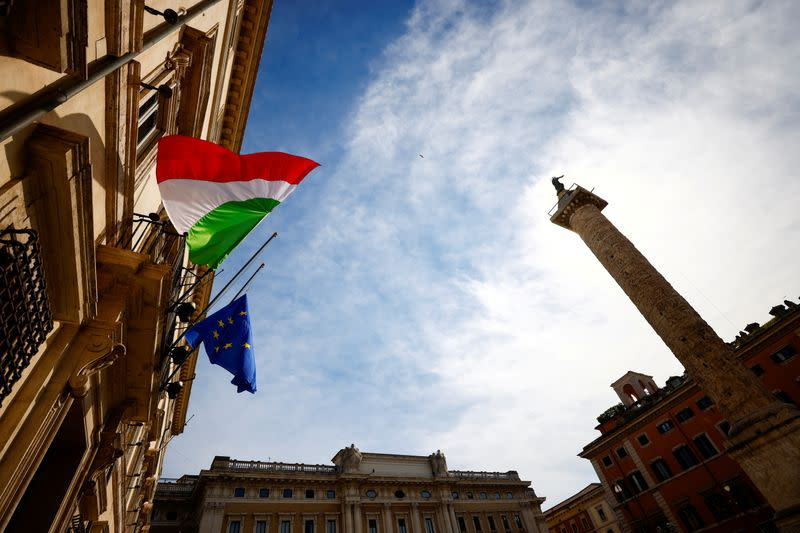 The Italian flag flies at half mast as the country holds its first National Day in memory of the victims of COVID-19