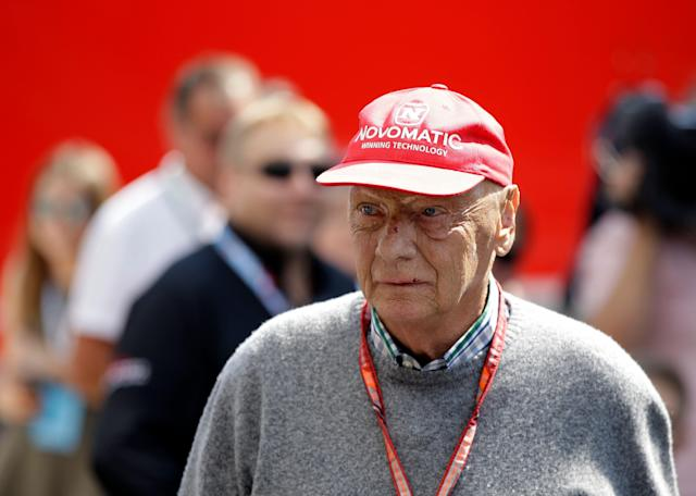 Niki Lauda won three Formula 1 titles. Two of them came after he was severely burned in a crash during the 1976 German Grand Prix. (AP Photo/Luca Bruno, file)