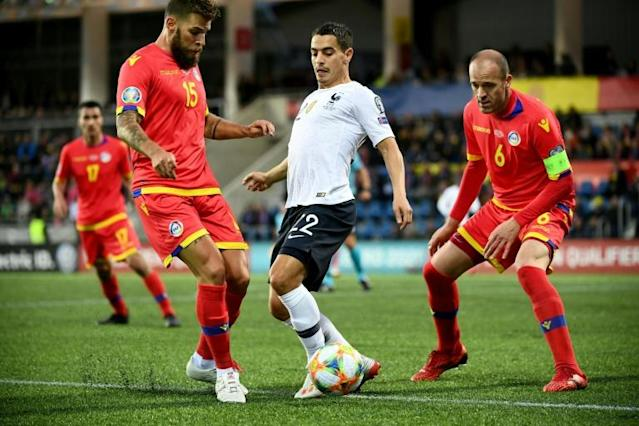 Wissam Ben Yedder scored his one international goal as France beat Andorra in Euro 2020 qualifying in June (AFP Photo/FRANCK FIFE)
