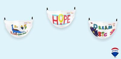 Miracle Masks, a pack of three face coverings featuring artwork by a patient and siblings served by Children's Miracle Network Hospitals, are now available to purchase. The young artists said they wanted to impart messages of hope and kindness.