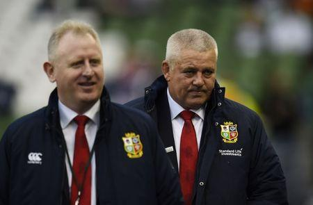 British & Irish Lions head coach Warren Gatland before the match