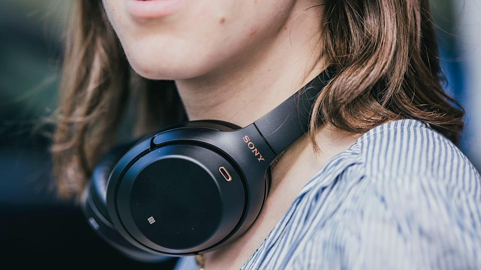 These noise-cancelling headphones are great for working in busy spaces.