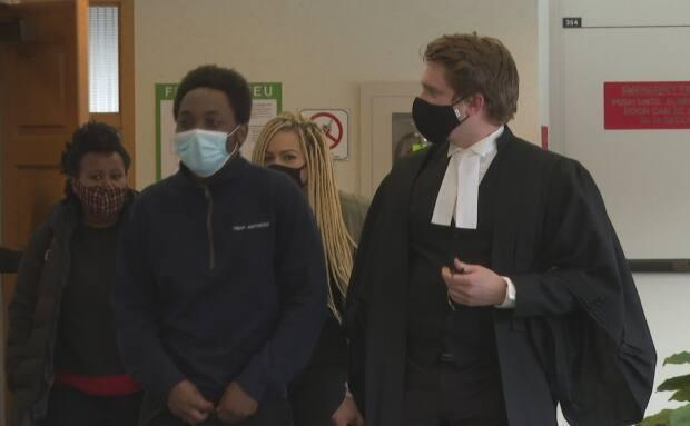 Lawyer Derek Bondt says he and his client, Javan Nsangira, are relieved he won't have a criminal record. (Brian Higgins/CBC - image credit)