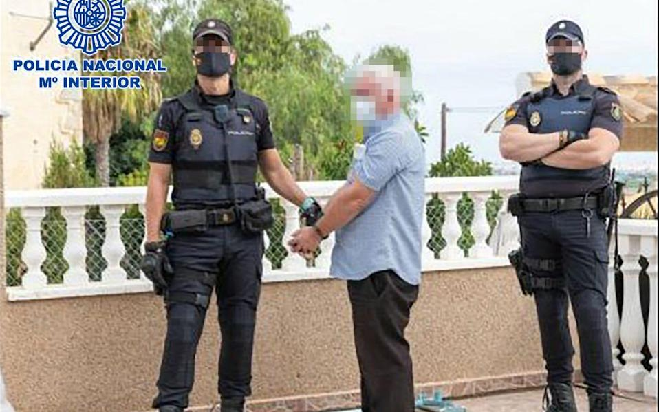 Mr Gilligan has been arrested by Spanish police after a gun was found hidden in the garden of a commercial premises in Costa Blanca. - Solarpix