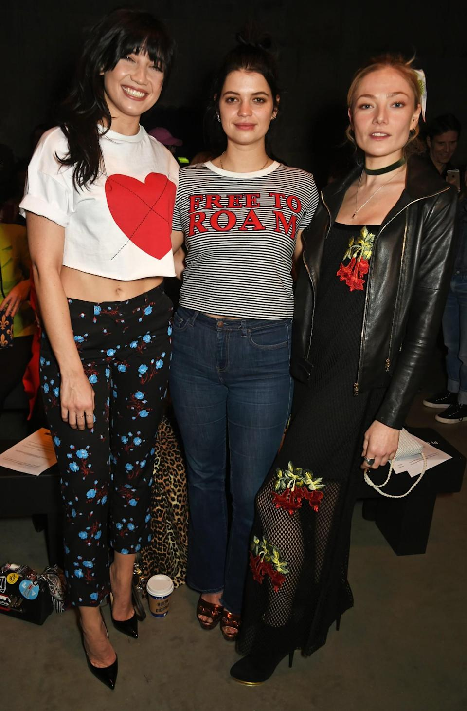 <p>Daisy Lowe, Pixie Geldof and Clara Paget all turned out to support their friend. <i>[Photo: Getty]</i> </p>