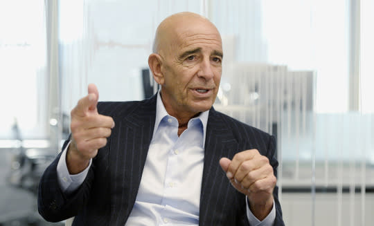 Tom Barrack, chairman of Colony Capital Inc., speaks during an interview in Los Angeles in 2015. (Photo: Kevork Djansezian/Bloomberg via Getty Images