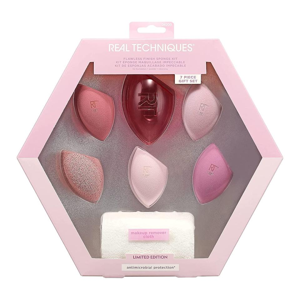 <p>The <span>Real Techniques Flawless Finish Makeup Sponge Set</span> ($20) is perfect for the makeup lover in your life. The set comes with three Miracle Complexion sponges, one Miracle Cleansing sponge, one Miracle Powder sponge, one Travel Sponge case, and one makeup remover cloth. After all, they can never have too many sponges. </p>