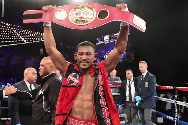 IBF middleweight champion Daniel Jacobs will meet Canelo Alvarez on May 4 in a unification bout at a venue to be determined. (Getty Images)