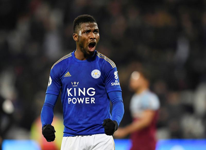 Kelechi Iheanacho scored a late equalizer for Leicester City in Wednesday's League Cup semifinal first leg draw with Aston Villa. (Reuters/Tony O'Brien)