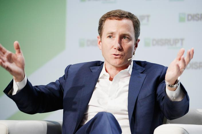 SAN FRANCISCO, CA - SEPTEMBER 06:  Peloton Co-Founder/CEO John Foley speaks onstage during Day 2 of TechCrunch Disrupt SF 2018 at Moscone Center on September 6, 2018 in San Francisco, California.  (Photo by Kimberly White/Getty Images for TechCrunch)