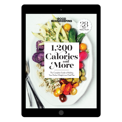 "<p>goodhousekeeping.com</p><p><a href=""https://shop.goodhousekeeping.com/good-housekeeping-1200-calories.html"" rel=""nofollow noopener"" target=""_blank"" data-ylk=""slk:Buy Now"" class=""link rapid-noclick-resp"">Buy Now</a></p><p>Want more delicious, good-for-you recipes? Get 4 full weeks of satisfying breakfast, lunch, dinner and dessert ideas all portioned by a nutritionist for safe weight loss in <em>Good Housekeeping</em>'s new meal plan, <a href=""https://shop.goodhousekeeping.com/good-housekeeping-1200-calories.html"" rel=""nofollow noopener"" target=""_blank"" data-ylk=""slk:1,200 Calories and More."" class=""link rapid-noclick-resp""><em>1,200 Calories and More</em>.</a></p><p><strong>RELATED:</strong> <a href=""https://www.goodhousekeeping.com/health/diet-nutrition/a35058950/can-a-person-be-fat-and-fit/"" rel=""nofollow noopener"" target=""_blank"" data-ylk=""slk:Is It Possible to Be &quot;Overweight&quot; and Healthy?"" class=""link rapid-noclick-resp"">Is It Possible to Be ""Overweight"" and Healthy?</a></p>"