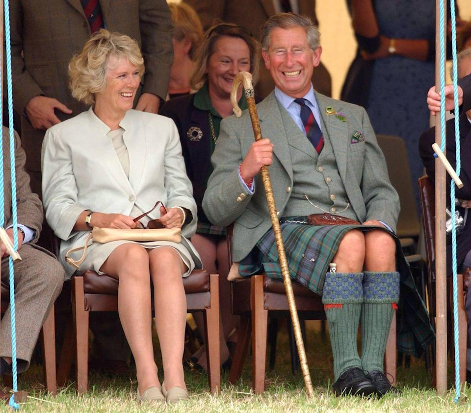 <p>The couple clearly enjoy the annual Mey Games. Here they are smiling again while watching the competition.</p>