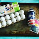 <p>While the eggs are soaking, grab a shallow glass baking dish. Fill with a thick layer of shaving cream (even the cheapest drugstore shaving cream works fine) and then add the dye colors you wish to use. Using a toothpick, blend the dyes together to create unique patterns and designs.</p>