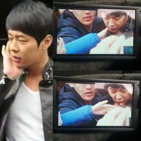 Yoo Chun gets slapped by a sasaeng on his way out of a salon (Youtube screengrab)