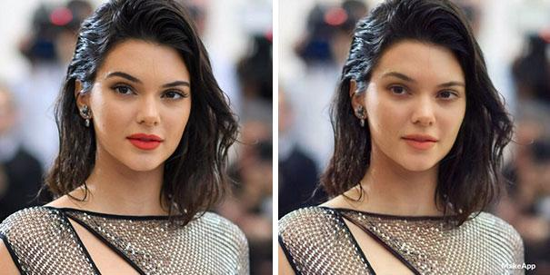 <p>Anyone else seeing double? Kendall Jenner looks practically the same with or without makeup. </p>
